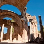 The Grand Thermae at Hadrian's Villa in Tivoli near Rome