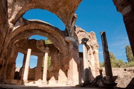 The Grand Thermae at Hadrian's Villa in Tivoli near Rome