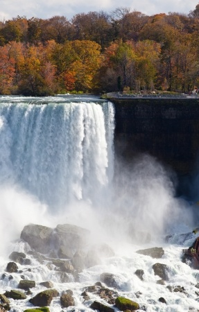 The American Falls at Niagara in autumn