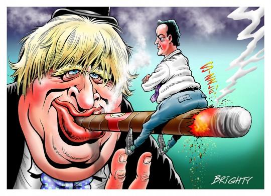 Cartoon of Boris Johnson and David Cameron by Steve Bright