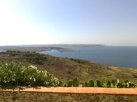View across the Gozo Channel