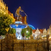 Long Market (Długi Targ), Gdańsk, at night