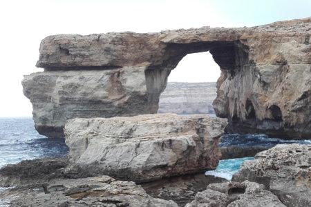 Azure Window near San Lawrenz, Gozo, Malta