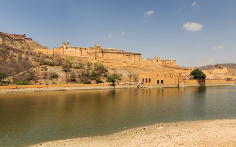 Amer Fort near Jaipur in Rajasthan, India