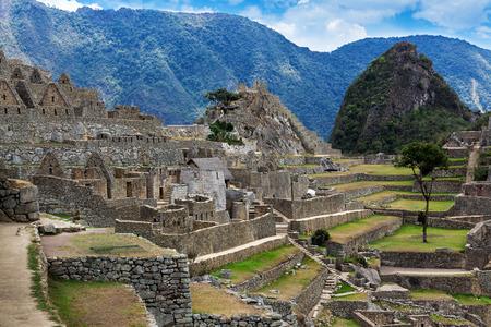 Inca ruins at Machu Picchu, Peru