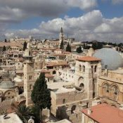 View of the Christian Quarter of Jerusalem's Old City