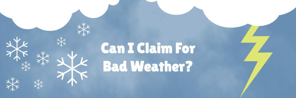 Banner: Flight delay compensation - can I claim for bad weather?