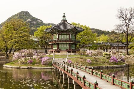 Pavilion of Far-reaching Fragrance in the Gyeongbokgung Palace Complex in Seoul