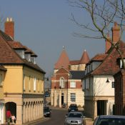 Middlemarsh Street in Poundbury, Dorset