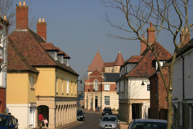 Middlemarsh Street in Poundbury, Dorset
