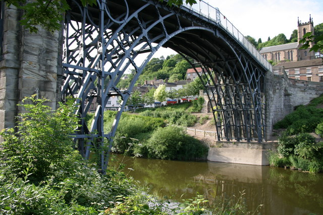 The Iron Bridge and St Luke's Church, Ironbridge, by Peter Scrimshaw